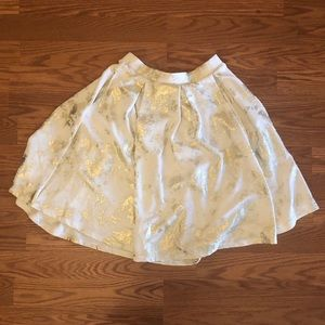 White & Gold Lularoe Madison / Size Small